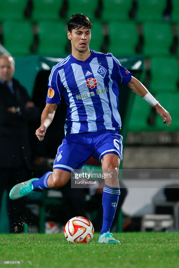 Aleksandar Dragovic of Dynamo Kyiv in action during the UEFA Europa League Group J match between Rio Ave FC and FC Dynamo Kyiv at the Dos Arcos Stadium on September 18, 2014 in Vila do Conde,Portugal.