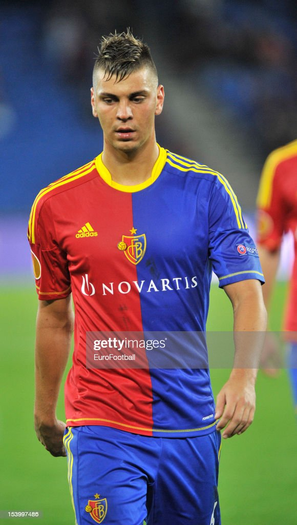 Aleksandar Dragovic of FC Basel 1893 in action during the UEFA Europa League group stage match between FC Basel 1893 and KRC Genk held on October 4, 2012 at the St. Jakob-Park in Basel, Switzerland.