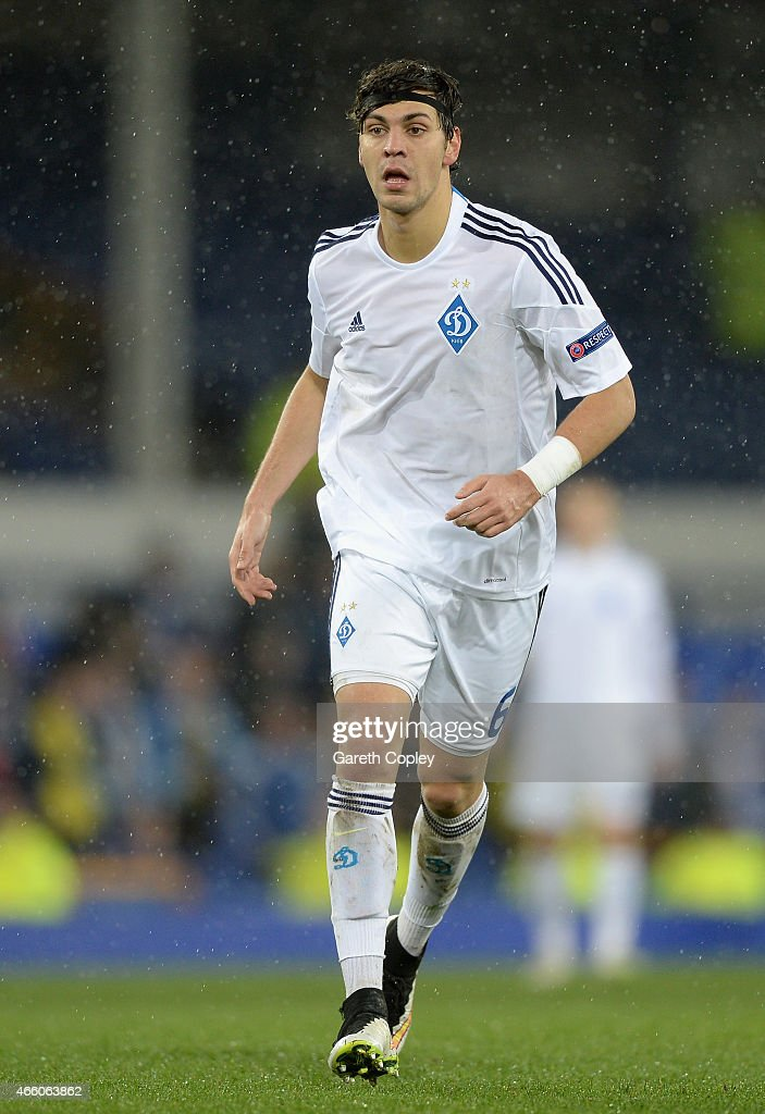 Aleksandar Dragovic of FC Dynamo Kyiv during the UEFA Europa League Round of 16 match between Everton FC and FC Dynamo Kyiv on March 12, 2015 in Liverpool, United Kingdom.