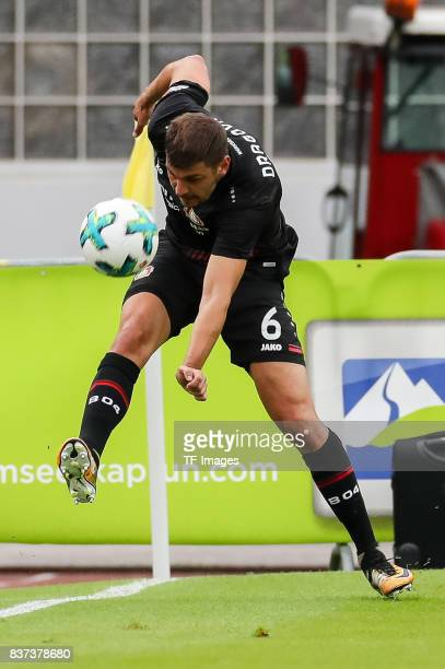 Aleksandar Dragovic of Leverkusen controls the ball during the preseason friendly match between Bayer 04 Leverkusen and Antalyaspor on July 27 2017...