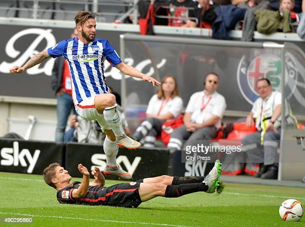 Aleksandar Ignjovski of Eintracht Frankfurt and Marvin Plattenhardt of Hertha BSC during the game between Eintracht Frankfurt and Hertha BSC on...