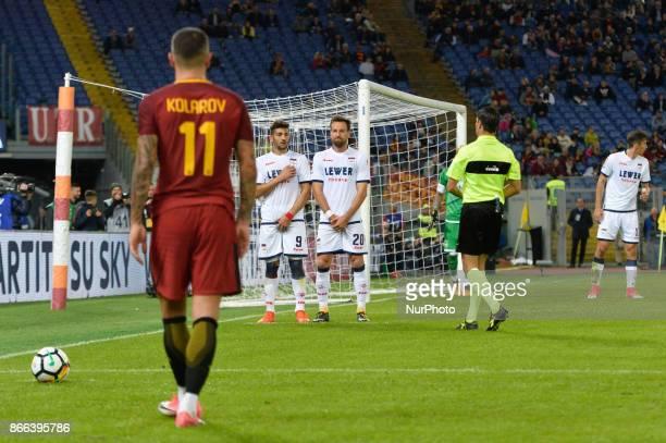Aleksandar Kolarov during the Italian Serie A football match between AS Roma and FC Crotone at the Olympic Stadium in Rome on october 25 2017