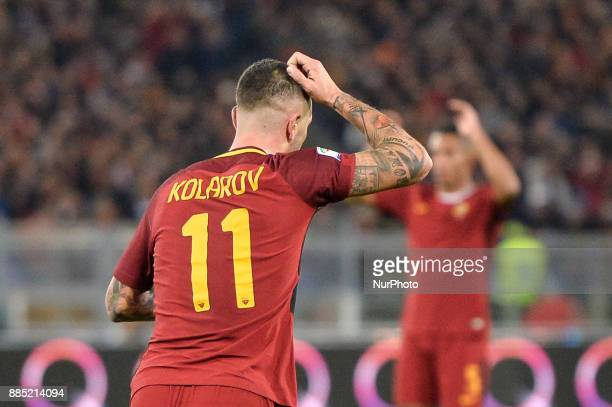 Aleksandar Kolarov during the Italian Serie A football match between AS Roma and Spal at the Olympic Stadium in Rome on december 01 2017