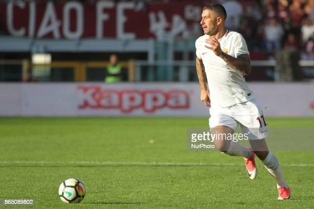 Aleksandar Kolarov during the Serie A football match between Torino FC and AS Roma at Olympic Grande Torino Stadium on 22 October 2017 in Turin Italy