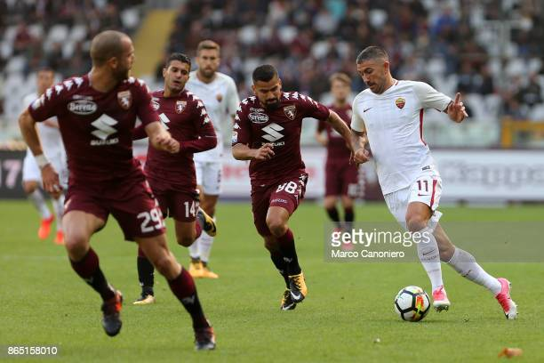 Aleksandar Kolarov of As Roma and Tomas Rincon in action during the Serie A football match between Torino Fc and As Roma As Roma wins 10 over Torino...