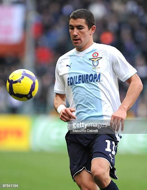 Aleksandar Kolarov of SS Lazio in action during the Serie A match between UC Sampdoria and SS Lazio at Stadio Luigi Ferraris on March 7 2010 in Genoa...