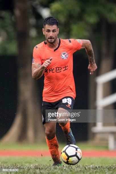 Aleksandar Randelovic of Sun Bus Yeun Long in action during the Hong Kong Premier League Week 4 match between BC Rangers vs Sun Bus Yuen Long at the...