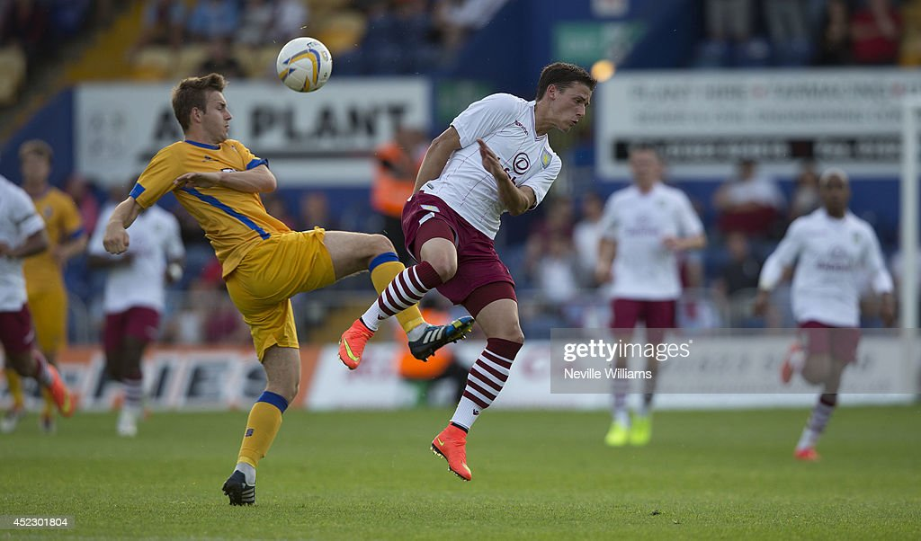 Aleksandar Tonev of Aston Villa during the pre season friendly match between Mansfield Town and Aston Villa at the One Call Stadium on July 17, 2014 in Mansfield, England.