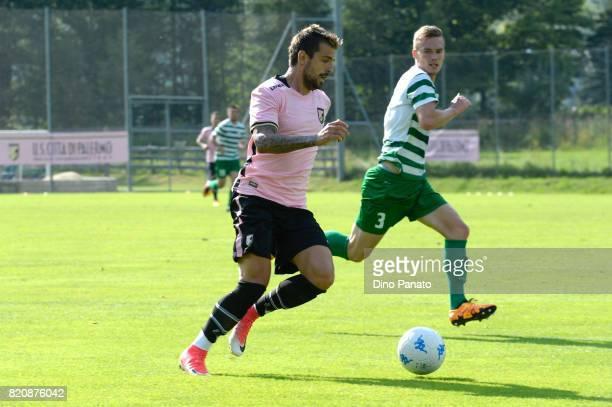 Aleksandar Trajkovski of US Citta di Palermo in action during the PreSeason Friendly match bewteen US Citta di Palermo and ND Ilirija at Sport Arena...