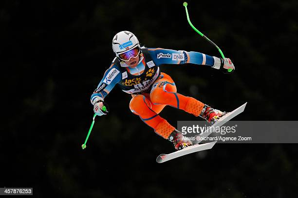 Aleksander Aamodt Kilde of Norway competes during the Audi FIS Alpine Ski World Cup Men's Downhill Training on December 19 2013 in Val Gardena Italy