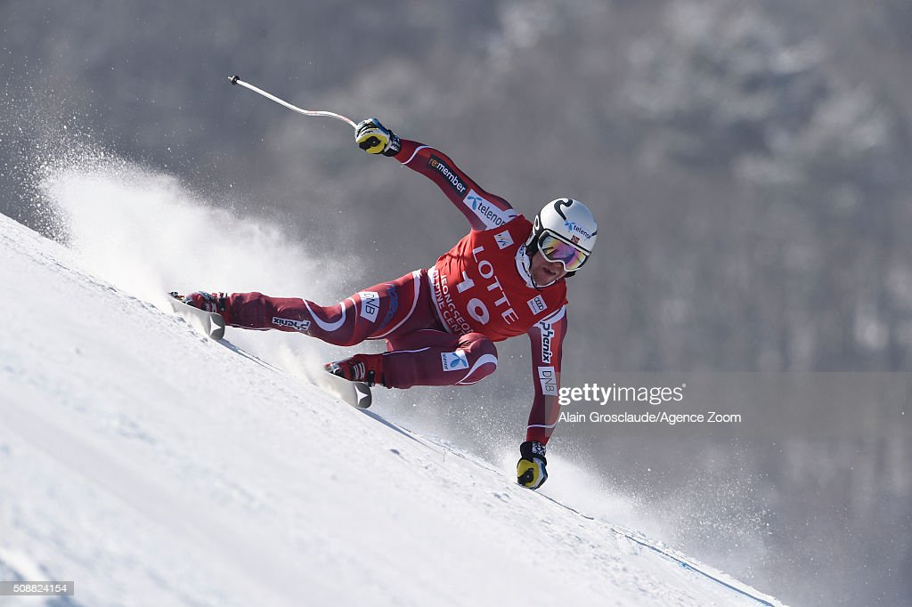 Aleksander Aamodt Kilde of Norway during the Audi FIS Alpine Ski World Cup Men's Super G on January 07, 2016 in Jeongseon, South Korea.