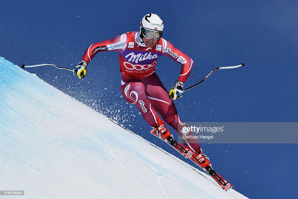 Aleksander Aamodt Kilde of Norway in action during the the Audi FIS Alpine Ski World Cup Finals Men's and Women's Super G on March 17 2016 in St...