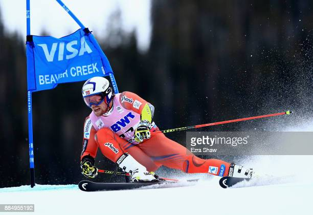 Aleksander Aarmodt Kilde of Norway competes in the second run of the Birds of Prey World Cup Giant Slalom race on December 3 2017 in Beaver Creek...