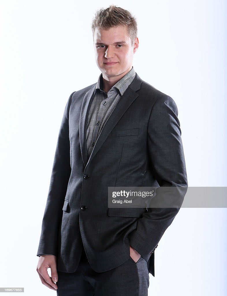 Aleksander Barkov has his formal portrait taken during the 2013 NHL Combine May 30, 2013 at the Westin Bristol Place Hotel in Toronto, Ontario, Canada.
