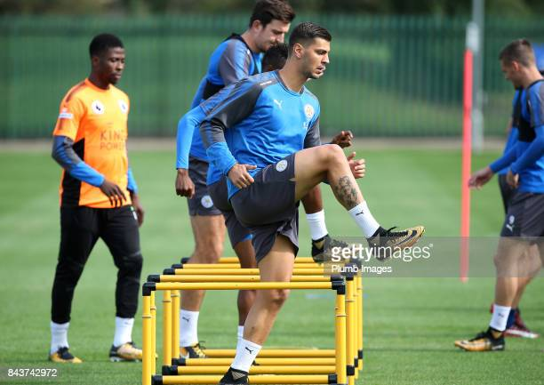 Aleksander Dragovic during the Leicester City training session at Belvoir Drive Training Complex on September 07 2017 in Leicester United Kingdom