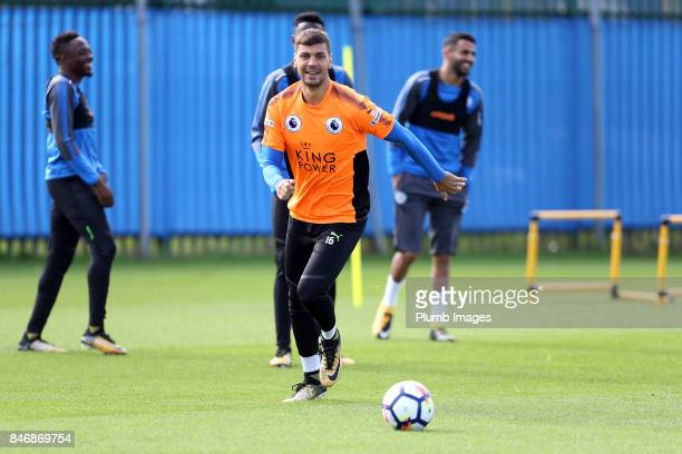 Aleksander Dragovic during the Leicester City training session at Belvoir Drive Training Complex on September 14 2017 in Leicester United Kingdom