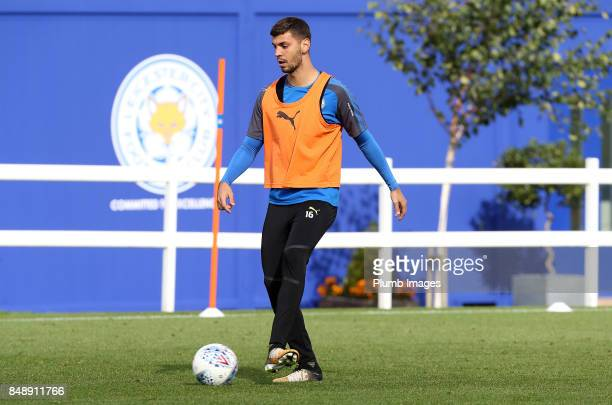 Aleksander Dragovic during the Leicester City training session at Belvoir Drive Training Complex on September 18 2017 in Leicester United Kingdom