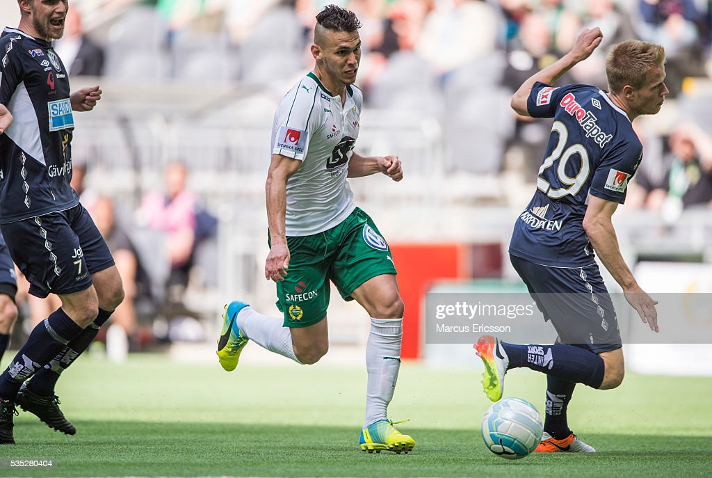 Aleksander Medieros de Aseredo of Hammarby IF during the Allsvenskan match between Hammarby IF and Gefle IF at Tele2 Arena on May 29, 2016 in Stockholm, Sweden.