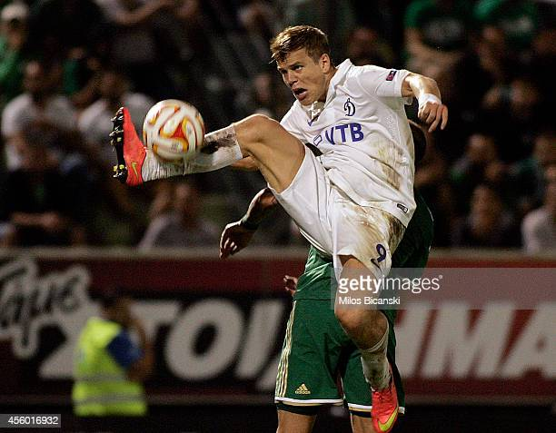 Aleksandr Kokorin of FC Dinamo Moskva in action during the UEFA Europa League match between Panathinaikos FC v FC Dinamo Moskva in Athens Tuesday...
