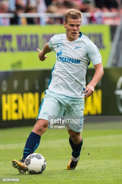 Aleksandr Kokorin of FK Zenit St Petersburg during the UEFA Europa League fourth round qualifying first leg match between FC Utrecht and FK Zenit St...