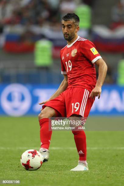 Aleksandr Samedov of Russia in action during the FIFA Confederations Cup Russia 2017 Group A match between Mexico and Russia at Kazan Arena on June...