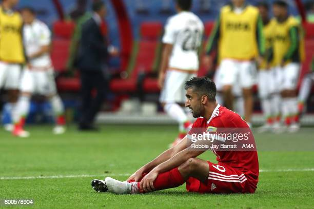 Aleksandr Samedov of Russia looks dejected during the FIFA Confederations Cup Russia 2017 Group A match between Mexico and Russia at Kazan Arena on...