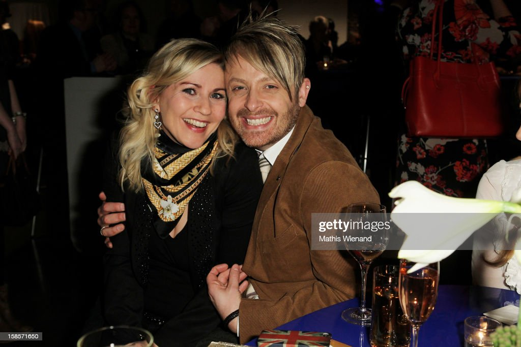 Aleksandra Bechtel and Ross Anthony attend the Dieter Bohlen Wallpaper Collection presentation of P&S International at Balloni Halls on December 19, 2012 in Cologne, Germany.