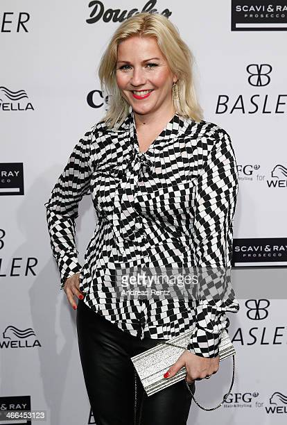 Aleksandra Bechtel attends the Basler fashion show on February 1 2014 in Dusseldorf Germany