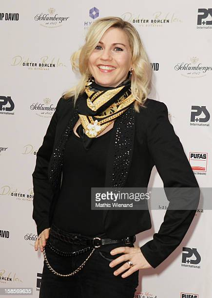Aleksandra Bechtel attends the Dieter Bohlen Wallpaper Collection presentation of PS International at Balloni Halls on December 19 2012 in Cologne...
