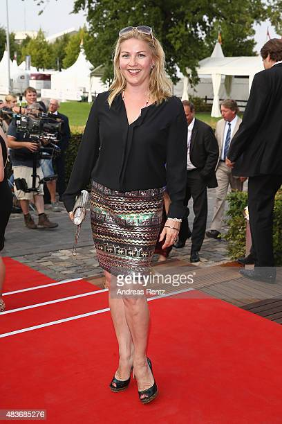 Aleksandra Bechtel attends the FEI European Championship 2015 media night on August 11 2015 in Aachen Germany