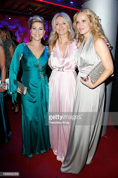 Aleksandra Bechtel Frauke Ludowig and Katja Burkhard attend the German TV Award 2012 at Coloneum on October 2 2012 in Cologne Germany