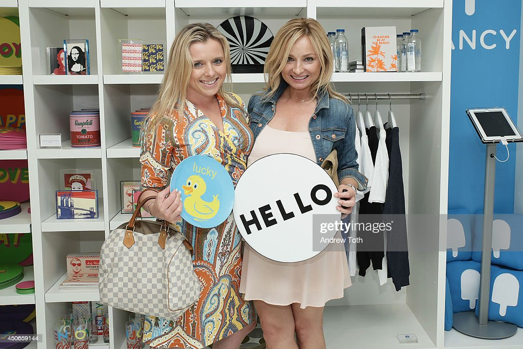 Aleksandra Kardwell (L) and Symona Kitchen attend Hamptons Magazine celebrates The New Lisa Perry store on June 14, 2014 in East Hampton, New York.
