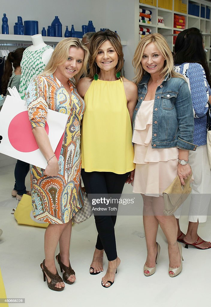 Aleksandra Kardwell designer Lisa Perry and Symona Kitchen attend Hamptons Magazine celebrates The New Lisa Perry store on June 14 2014 in East...