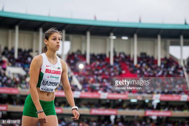 Aleksandra Nacheva of Bulgaria competes in the girls triple jump during day 4 of the IAAF U18 World Championships at Moi International Sports Centre...
