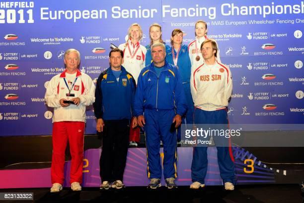Aleksandra SOCHA / Olga KHARLAN / Galyna PUNDYK / Julia GAVRILOVA Sabre Finale Sabre Championnat d Europe d Escrime Sheffield