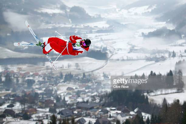 Aleksey Pavlenko of Russia in action during Men's Moguls training at the FIS Freestyle Ski World Championships on January 17 2015 in Kreischberg...