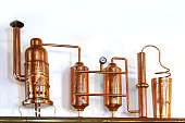 Alembic Copper - Distillation apparatus employed for the distillation of alcohol. Small model