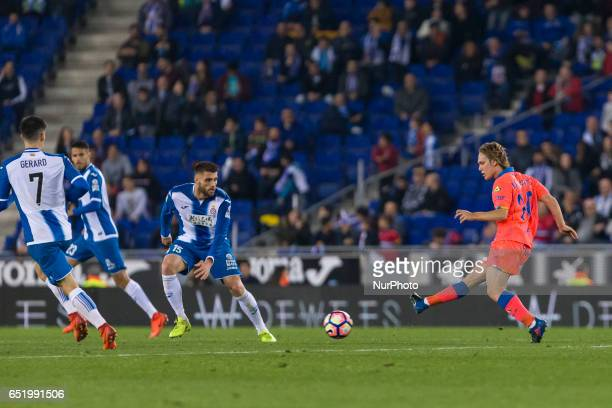 Alen Halilovic during the match between RCD Espanyol vs Las Palmas for the round 27 of the Liga Santander played at RCD Espanyol Stadium on 10th...