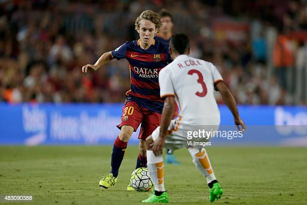 Alen Halilovic of FC Barcelona Cole of AS Roma during the Joan Gamper Trophy match between Barcelona and AS Roma on August 5 2015 at the Camp Nou...