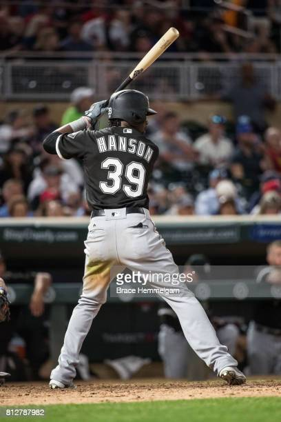 Alen Hanson of the Chicago White Sox bats against the Minnesota Twins on June 21 2017 at Target Field in Minneapolis Minnesota The Twins defeated the...