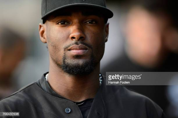 Alen Hanson of the Chicago White Sox looks on before the game against the Minnesota Twins on June 20 2017 at Target Field in Minneapolis Minnesota...