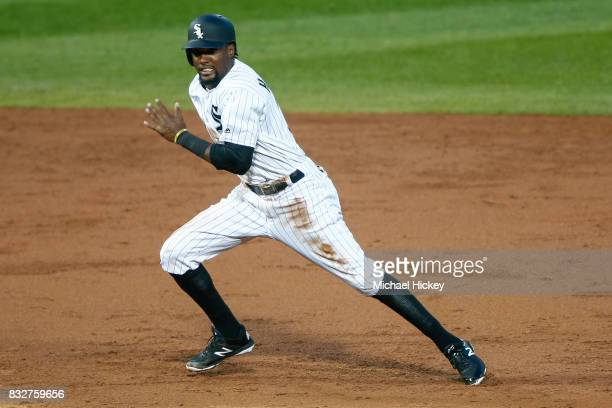 Alen Hanson of the Chicago White Sox runs the bases during the game against the Toronto Blue Jays at Guaranteed Rate Field on August 1 2017 in...