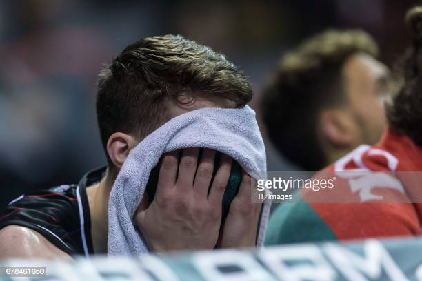 Alen Pjanic of Giessen 46ers looks on during the match between FC Bayern Muenchen and Giessen 46ers at Audi Dome on May 1 2017 in Munich Germany