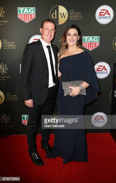Alen Stajcic arrives ahead of the FFA Dolan Warren Awards at The Star on May 1 2017 in Sydney Australia