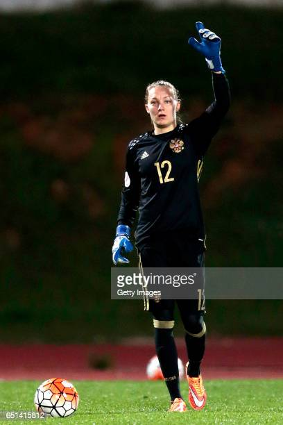 Alena Beliaeva of Russia during the Algarve Cup Tournament Match between Sweden W and Russia W on March 8 2017 in Albufeira Portugal