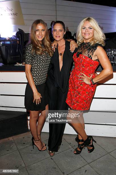 Alena Geber Doreen Dietel and Diana Herold attend the New Faces Award Fashion 2015 on July 16 2015 in Munich Germany