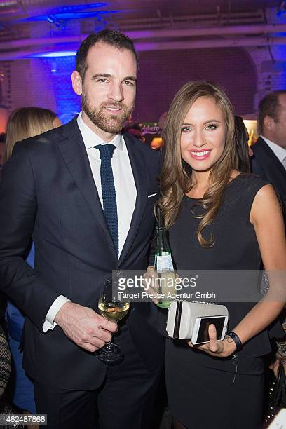 Alena Gerber and Christoph Metzelder attend the Mira Award 2015 at Station on January 29 2015 in Berlin Germany