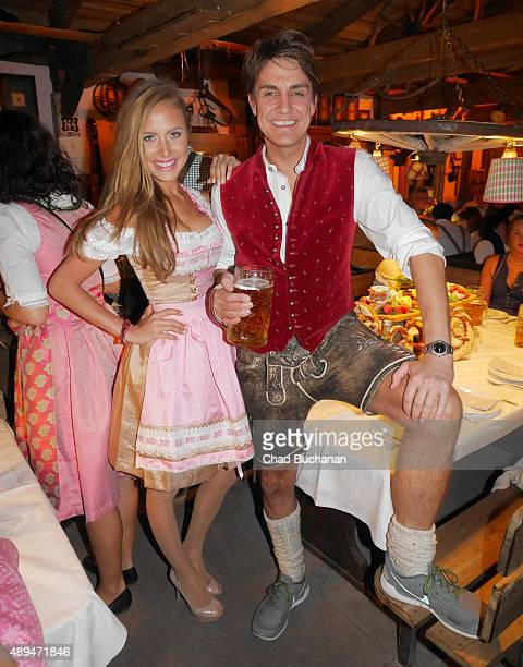 Alena Gerber and Daniela Sudau at the Oktoberfest 2015 at Theresienwiese on September 21 2015 in Munich Germany