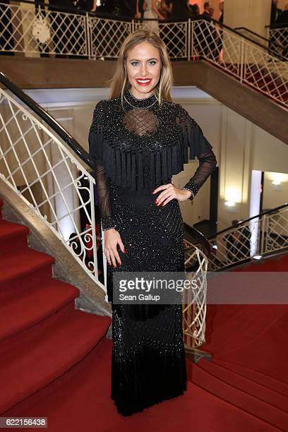 Alena Gerber arrives at the GQ Men of the year Award 2016 at Komische Oper on November 10 2016 in Berlin Germany