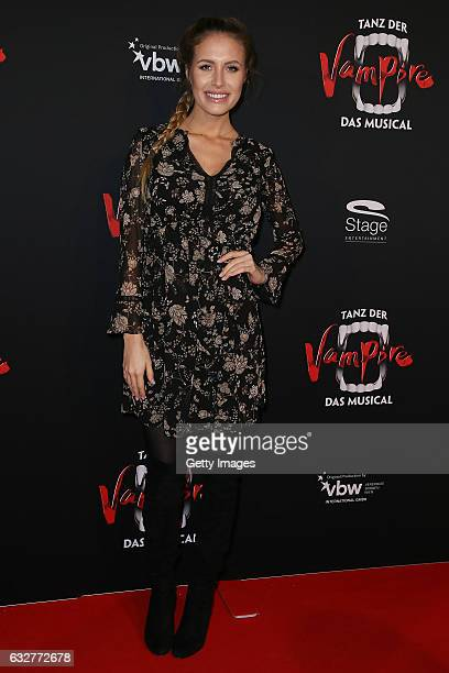 Alena Gerber attends the red carpet at the premiere of the musical 'Tanz der Vampire' at Stage Palladium Theater on January 26 2017 in Stuttgart...